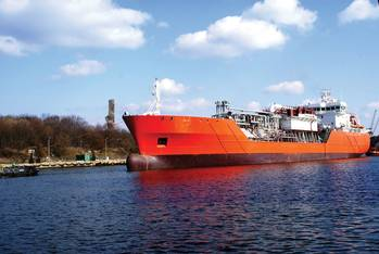 File The Antony Veder-owned Coral Methane is one of the first small LNG vessels capable of delivering LNG bunkers
