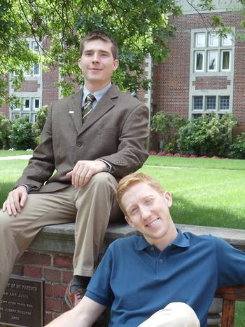 File Left: Don Rickerson; right: Justin Van Emmerik, both members of the Webb Institute Class of 2013.