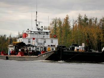 File Yukon River operations: Image courtesy of Crowley Maritime