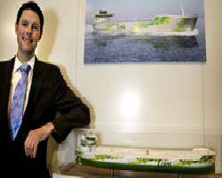 File DNV project manager Pål Wold with the Ecore concept ship.