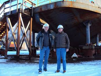 File Left to right: Randy Johnson, President of Alaska Ship & Drydock, and Doug Ward, Director of Shipyard Development. Photos courtesy Alaska Ship & Drydock