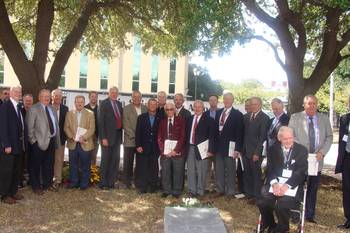 File LtoR  Paul Fields, Martin Staiger, Dave Thomas, William Craft, Tom Epley, Tom Godfrey, W.K. Johnson, John Strem, Ron Ritter, Jerry Miller, Ray Wittersheim, Joe Yurso, Jeff Brooks, Gary Bowers, Dave Baker, Phillip Moberg, Dave Edwards, Tom Ackiss, William D. Kee, Ken Newman, Founding President, Leo Marshall