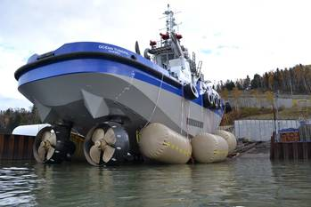File Launch of heavy tug