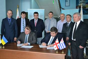 File Batumi State Maritime Academy (BSMA) and Transas Marine Black Sea signed a contract for supply and installation of the Transas Full Mission Offshore simulator. (Photo courtesy of Transas Marine)