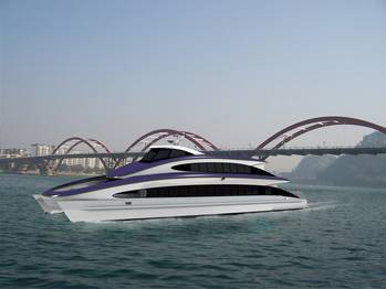 File DFe 3508, a 35m Aluminium Luxury Sightseeing Ferry.