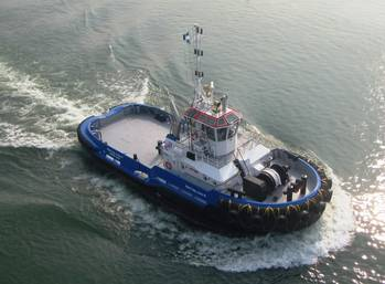 File the 'RUA Cap. Lucio R', a Damen ASD 2810 tug.