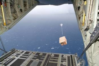 File Air-drop Drifter Buoy: Photo courtesy of NOAA