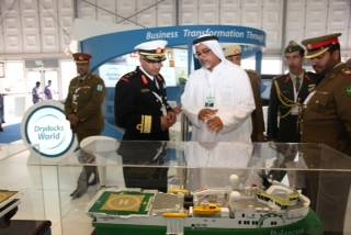 File Drydocks World stand at NAVDEX.