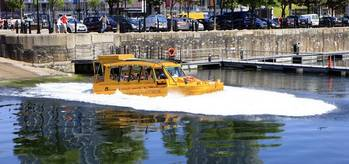 File Quacker Takes to the Water: Photo courtesy of Yellow Duckmarine