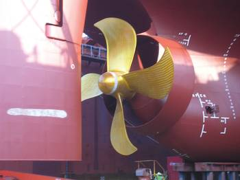File 6.8 meter diameter propeller and matching Becker Mewis Duct
