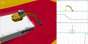 File The combination of 3D and cross-profile views integrating sensor data equals comprehensive real-time visualisation of dredging operations.