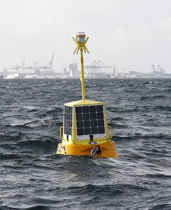 File The EIVA ToughBoy Panchax is a wave buoy designed for lowest possible total cost of ownership, as the first member of EIVA's new buoy product range.
