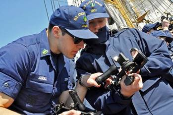 File Cadets Handling a Sextant: Photo credit USCG