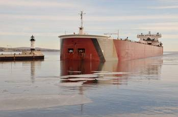 File Edwin H. Gott arriving in Port of Duluth-Superior early last year (Photo: Paul Scinocca)