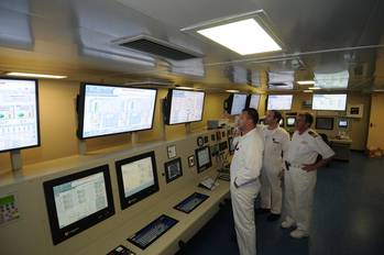 File Engine control room: Image courtesy of Carnival