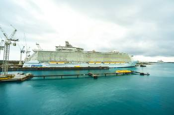 File Allure of the Seas docked at the Grand Bahama Shipyard for repair work in 2014 (Photo: GBSL)