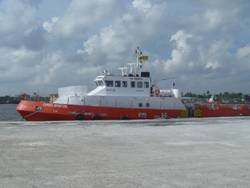 File new build 36m vessel, Express Opportune, fast support intervention vessel capable of 25 knots and specifically prepared for the Anti-Piracy role.