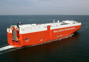 File Prior to its introduction, ExxonMobil Premium HDME 50 was tested with Wallenius Wilhelmsen Logistics.