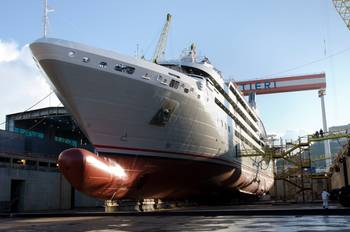 File Luxury Cruise Ship Le Soleal: Photo credit Fincantieri