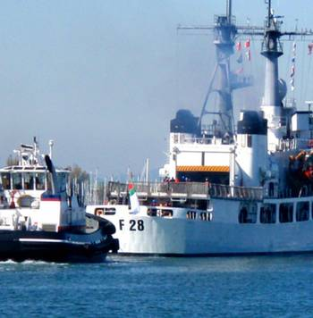 File Former Cutter Jarvis departs: Photo courtesy of USCG