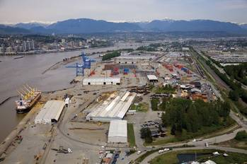 File Aerial View Fraser Surrey Docks: Photo credit FSD
