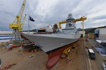 File Fremm Frigate Carlo Margottini: Photo credit Fincantieri