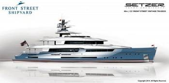 File Setzer Design Motoryacht: Rendering courtesy of Front Street Shipyard