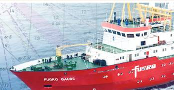 File A Fugro survey vessel: Photo courtesy of Fugro