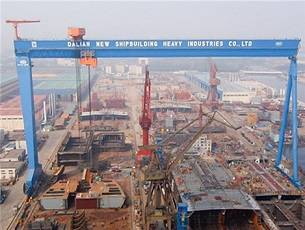 File GE's drive system in action at the Dalian Shipyard. (Photo: GE)