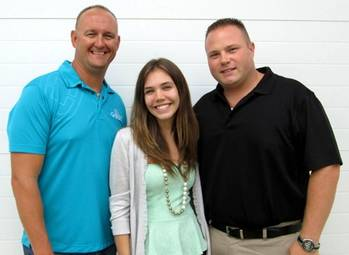 File From left: Tony Miller, Samantha Thomas and Parrish Westbrook