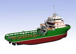 File The first GPA 254L AHTS, one of 54 identical vessels for Bourbon Offshore, is currently under construction at Dayang City Shipyard in China.