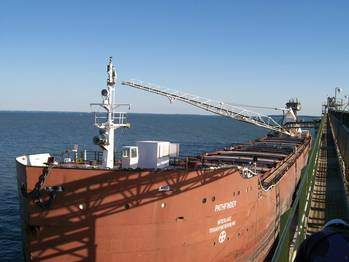 File File Photo: Great Lakes Bulk Carrier