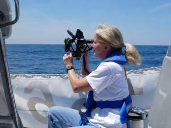 File Gail Taking a Sight: Photo credit Marion Bermuda Race