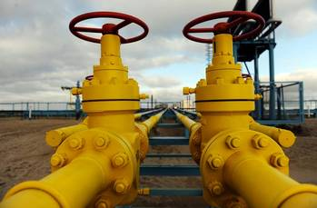 File Gas pipes, valves: File photo