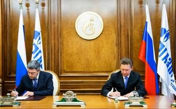 File Andrey Akimov & Alexey Miller sign: Photo credit Gazprom