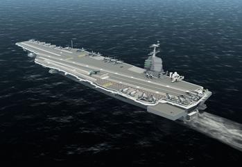File USS Gerald Ford: Image credit NNS