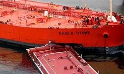 File Greek Tanker Eagle Otome. Credit Iran Official News Agency FARS