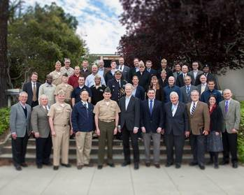 File The participants at the Littoral Operations Center inaugural wargame planning workshop in Monterey, California. (U.S. Navy photo by Javier Chagoya)