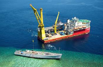 File Salvage Operations Tubbataha Reef: Photo credit NAVSEA
