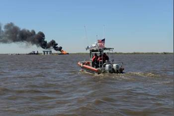 File Bayou Perot Pipeline Blaze: Photo credit USCG