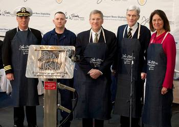 File SSN 785 Keel-laying ceremony: Photo credit HII