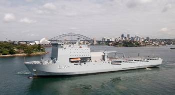 File HMAS Choules (Photo: Royal Australian Navy)