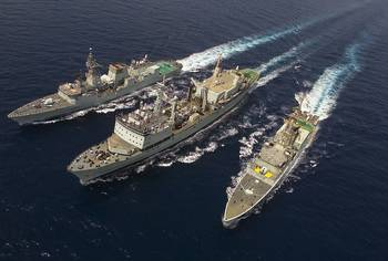 File HMCS Protecteur (centre): Earlier photo courtesy of Canadian Government