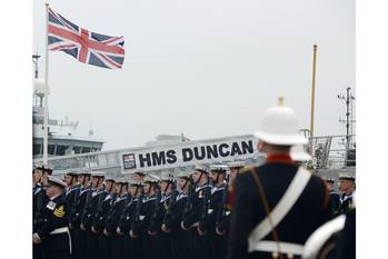 File HMS Duncan commissioning: Photo courtesy of MOD