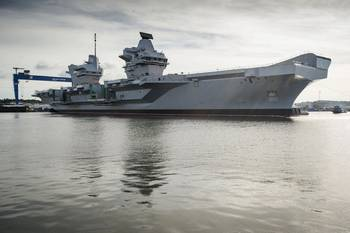 File HMS Queen Elizabeth floats for the first time (Photo courtesy of BAE Systems)