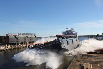 File Launch HOS Bayou: Photo credit Eastern Shipbuilding Group
