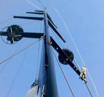 File Mast & Spars: Photo courtesy of Hall Spars