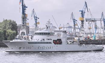 File LNG-fueled KV BARENTSHAV, a Norwegian Coast Guard vessel.