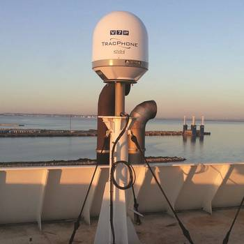 File Compact and rugged, KVH's TracPhone V7-IP Ku-band VSAT system was chosen to meet growing bandwidth usage and Internet demand onboard the RHL Hamburger Lloyd tankers.