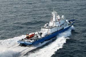 File Korean Coast Guard Patrol Boat with 2 x HamiltonJet HT1000 and 2 x HM811 boost jets. Photo courtesy HamiltonJet